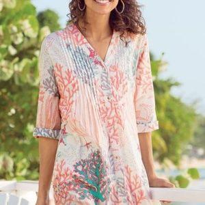 Soft Surroundings Malha Reef Shirt